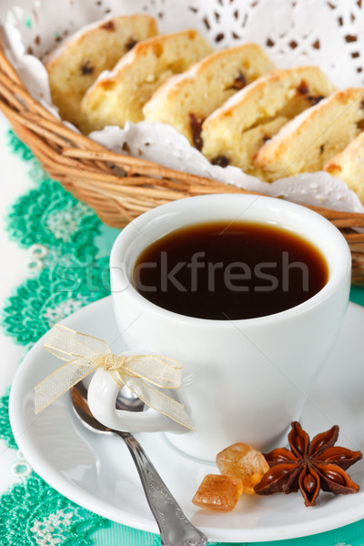 Cup of coffee and fruitcake. Stock photo © lidante