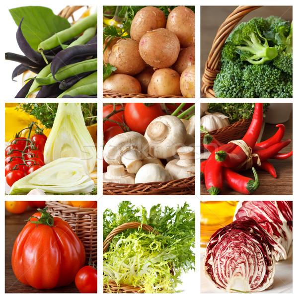 Gemüse Sammlung frischen voll Essen Obst Stock foto © lidante