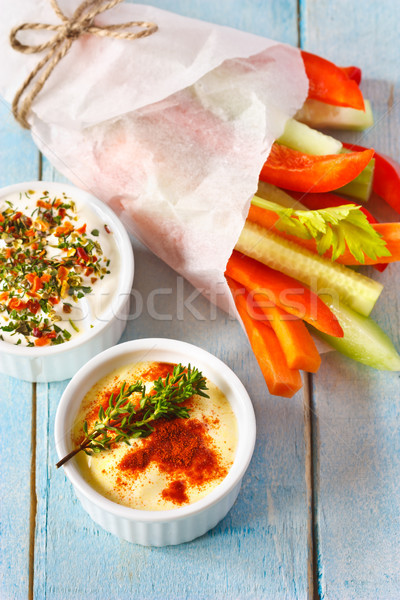 Vegetables and dip.  Stock photo © lidante