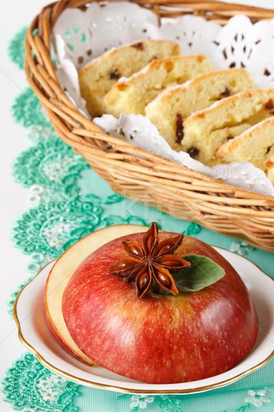 Maçã anis maçã vermelha estrela orégano Foto stock © lidante