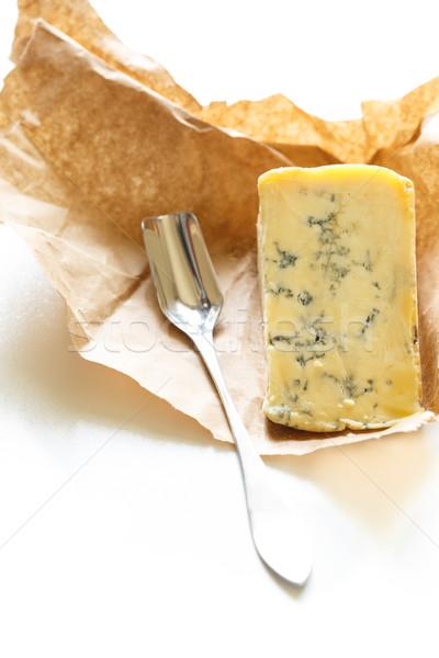 Stilton cheese on a white background. Stock photo © lidante