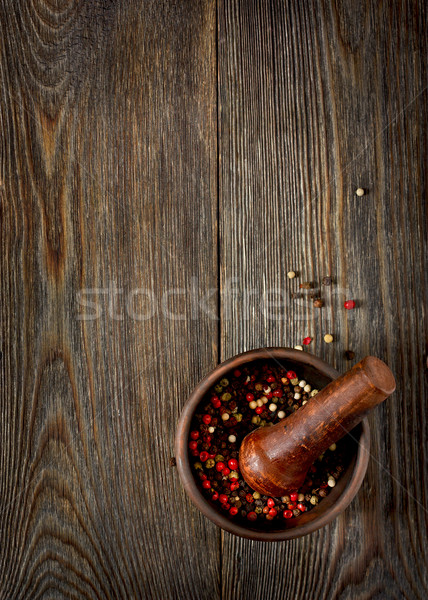 Colorful aromatic peppercorns. Stock photo © lidante