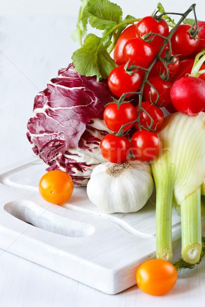 Tuin groenten vers witte voedsel Stockfoto © lidante