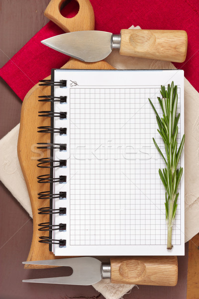 Notebook for recipes. Stock photo © lidante