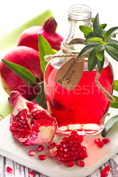 Stock photo: Homemade pomegranate juice.