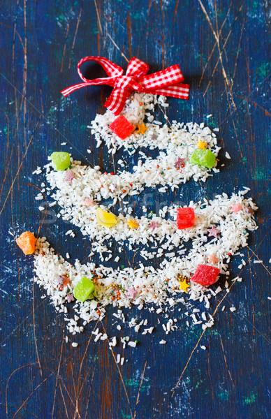 Christmas kokosnoot decoratief kerstboom suiker Stockfoto © lidante
