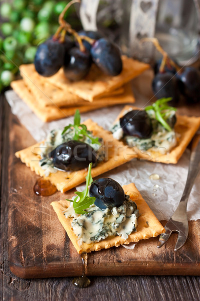 Blue cheese crackers. Stock photo © lidante