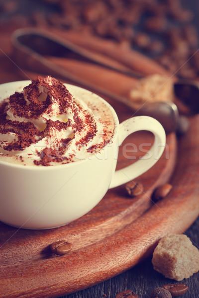 Cup of cappuccino. Stock photo © lidante
