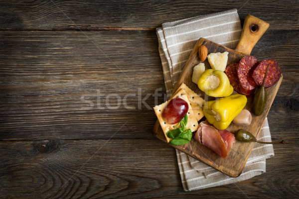 Cheese platter. Antipasti. Stock photo © lidante