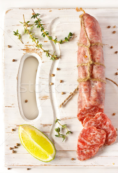 Salami. Stock photo © lidante