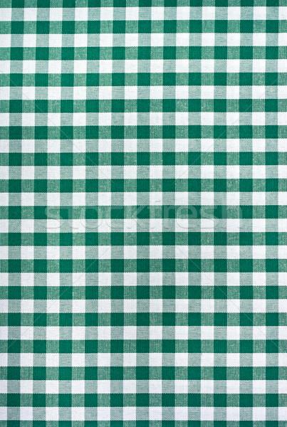 緑 白 テーブルクロス 食品 抽象的な デザイン ストックフォト © lidante