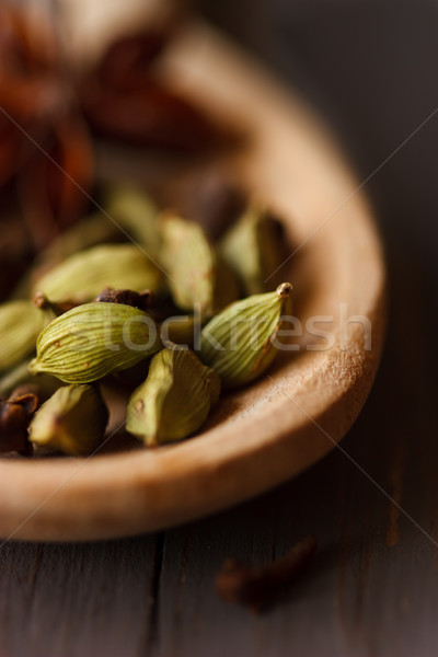 Cardamomo verde aromático comida Foto stock © lidante