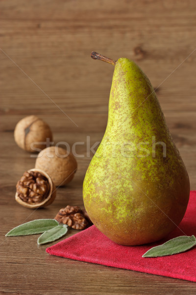 Pear and walnuts. Stock photo © lidante