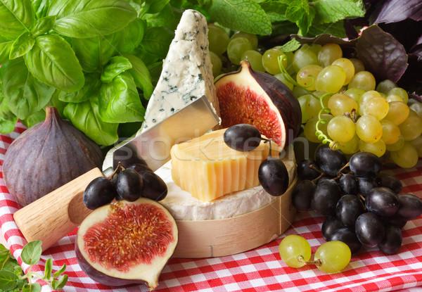 Queijo frutas fresco maduro fruto Foto stock © lidante
