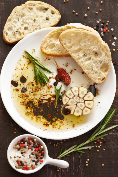 закуска оливкового масла бальзамического уксуса специи соус Сток-фото © lidante