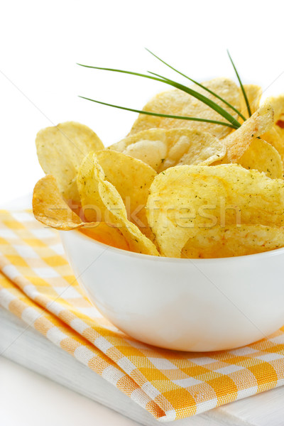 Delicious potato chips. Stock photo © lidante