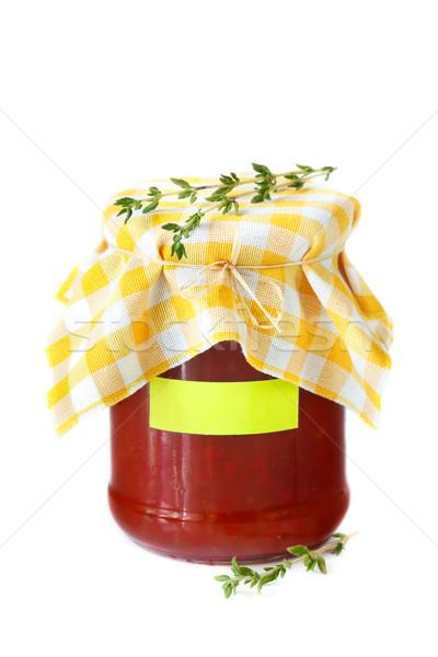 Molho de tomate caseiro pimenta comida saúde cozinha Foto stock © lidante