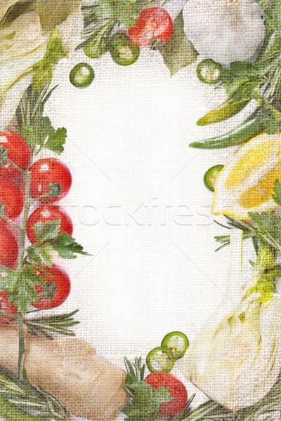 Légumes cadre belle légumes frais aliments sains alimentaire Photo stock © lidante