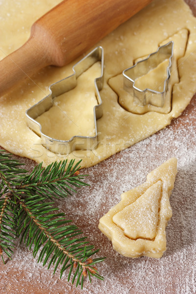 Christmas trees cookies. Stock photo © lidante