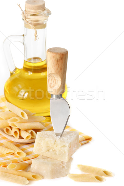 Parmesan and knife. Stock photo © lidante