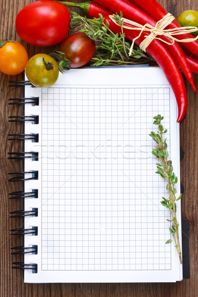 Vegetable notebook. Stock photo © lidante