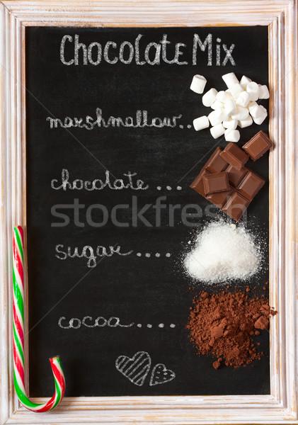 Chocolate mix. Stock photo © lidante