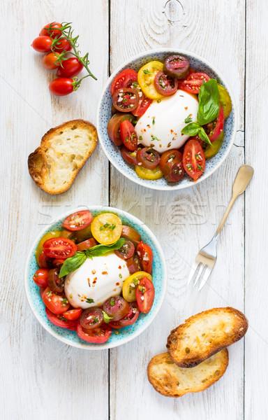 Stock photo: Fresh tomatoes salad.