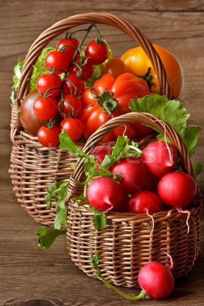 урожай кухне саду овощей плетеный весны Сток-фото © lidante