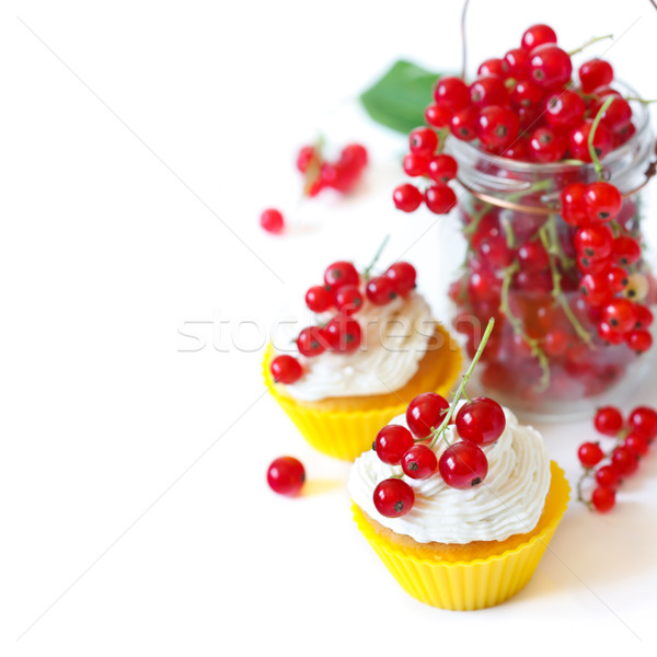 Cupcakes and berries. Stock photo © lidante