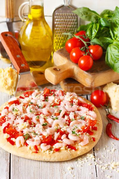 Shrimp pizza. Stock photo © lidante