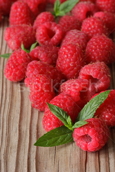 Raspberries close-up. Stock photo © lidante