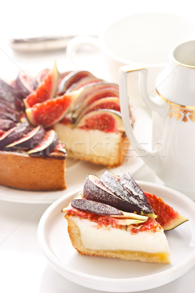 Sernik świeże żywności świetle ciasto Zdjęcia stock © lidante