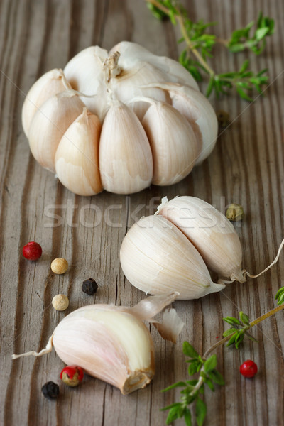 Garlic, thyme and peppercorns. Stock photo © lidante
