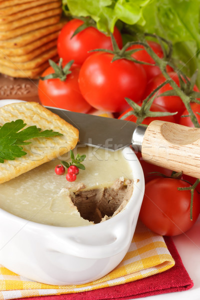 Cracker and pate. Stock photo © lidante