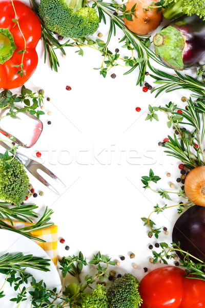 Stock photo: Vegetables frame.