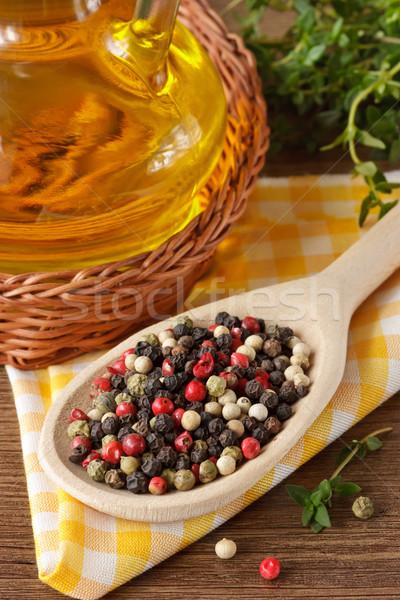 Colorful peppercorns. Stock photo © lidante