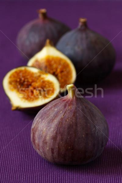 Frischen voll lila Stoff Obst Stock foto © lidante