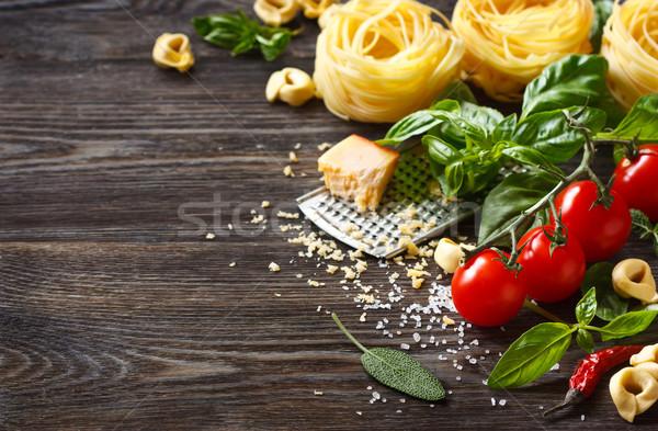 のイタリア料理 材料 料理 パスタ 木製 コピースペース ストックフォト © lidante