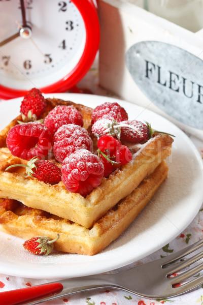 Belgian waffle. Stock photo © lidante