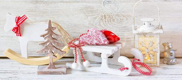クリスマス 装飾 装飾的な ランタン みすぼらしい シック ストックフォト © lidante