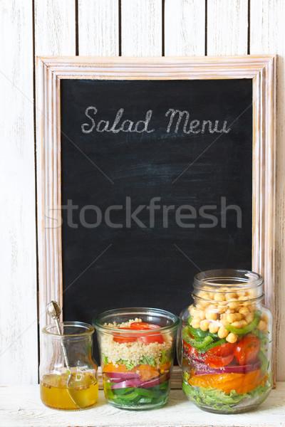 Salad menu. Stock photo © lidante