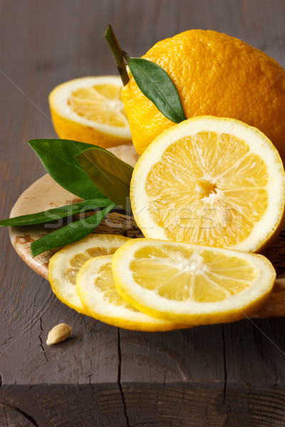 Sliced lemon. Stock photo © lidante