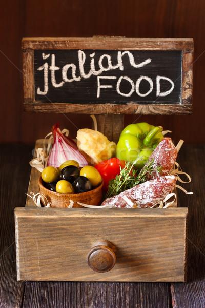 итальянской кухни деревенский окна томатный Сток-фото © lidante