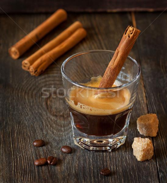 эспрессо стекла кофе фон пить Сток-фото © lidante