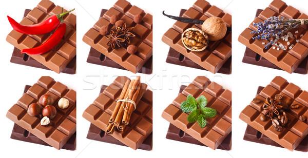 Stockfoto: Chocolade · donkere · melk · bars · aromatisch · ingrediënten