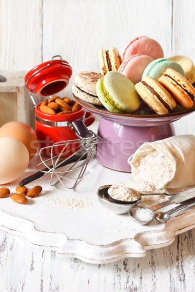 マカロン ケーキ スタンド 新鮮な 材料 ストックフォト © lidante