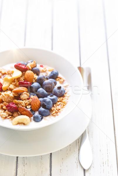 Saudável granola café da manhã caseiro nozes Foto stock © lidante