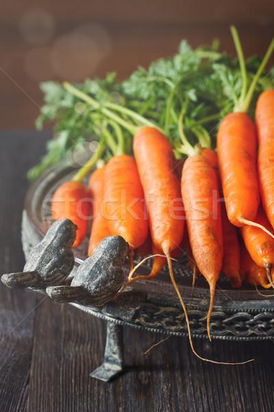 Cenouras fresco orgânico cozinha jardim vintage Foto stock © lidante