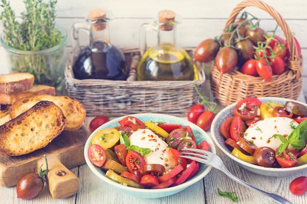 Fresh tomatoes salad. Stock photo © lidante