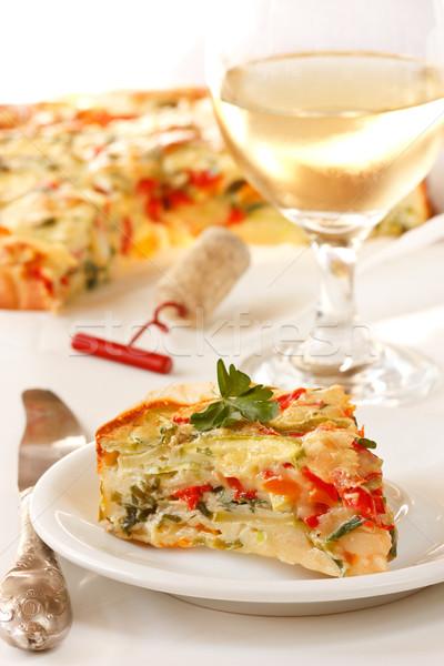 Stock photo: Vegetables pie.